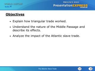 Explain how triangular trade worked.