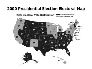 2000 Presidential Election Electoral Map