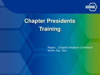 Chapter Presidents Training