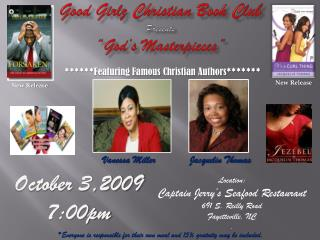"Good  Girlz  Christian Book Club Presents ""God's Masterpieces"""