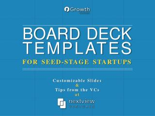 FOR SEED-STAGE STARTUPS