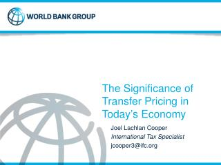 The Significance of Transfer Pricing in Today's Economy