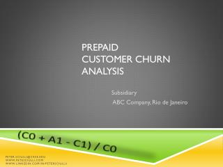 Prepaid  customer Churn Analysis