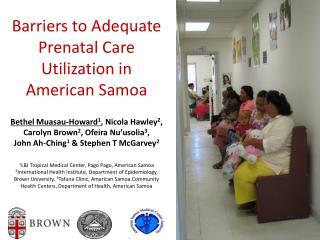 Barriers to Adequate Prenatal Care Utilization in American Samoa