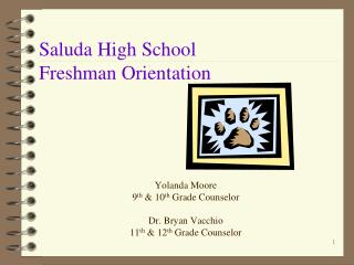 Saluda High School Freshman Orientation