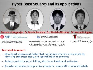 Hyper  Least Squares and its applications