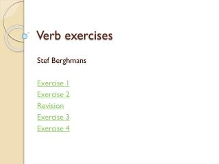 Verb exercises