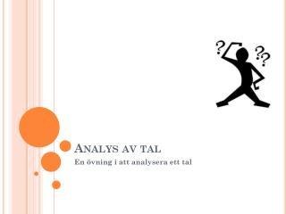 Analys av tal