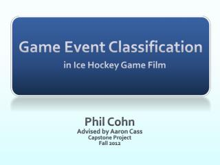 Game Event Classification in Ice Hockey Game Film