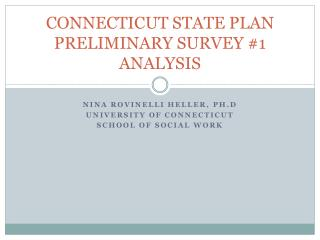 CONNECTICUT STATE PLAN PRELIMINARY SURVEY #1 ANALYSIS