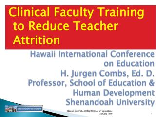 Clinical Faculty Training to Reduce Teacher Attrition
