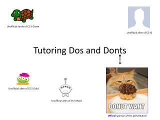 Tutoring Dos and Donts