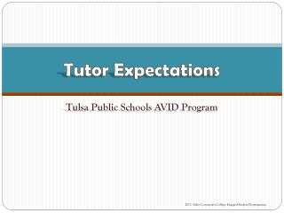 Tutor Expectations
