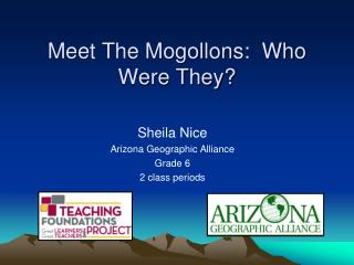 Meet The Mogollons:  Who Were They?