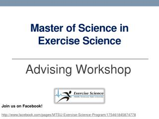 Master of Science in Exercise Science