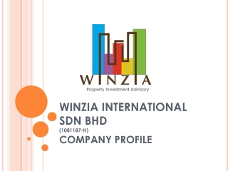 WINZIA INTERNATIONAL SDN BHD (1081187-H) COMPANY PROFILE