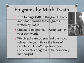 Epigrams by Mark Twain