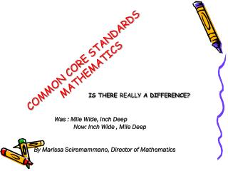 COMMON CORE STANDARDS MATHEMATICS
