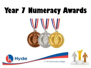 Year 7 Numeracy Awards