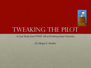Tweaking the pilot