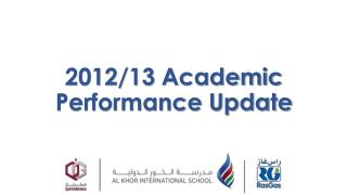 2012/13 Academic Performance Update