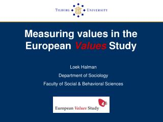 Measuring values in the   European  Values  Study