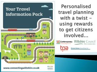 Personalised travel planning with a twist - using rewards to get citizens involved ...