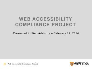 Web accessibility compliance project