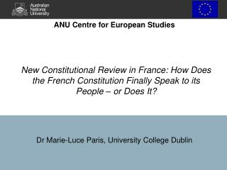 Dr Marie-Luce Paris, University College Dublin