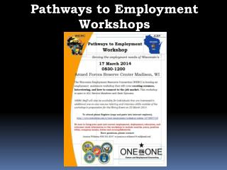 Pathways to Employment Workshops