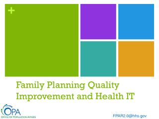 Family Planning Quality Improvement and Health IT