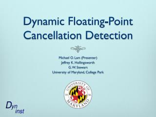 Dynamic Floating-Point Cancellation Detection