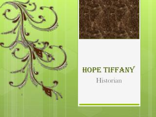Hope Tiffany