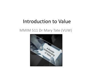 Introduction to Value