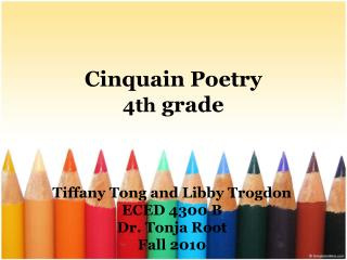 Cinquain Poetry 4th  grade