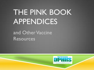 The Pink Book  Appendices