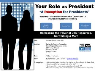 "Your Role  as  President ""A  Reception  for Presidents """