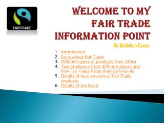 Welcome to my Fair Trade Information Point