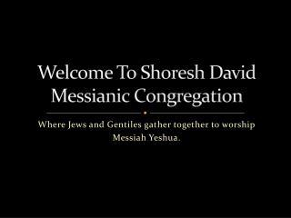 Welcome To Shoresh David Messianic Congregation