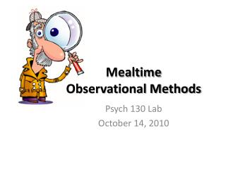 Mealtime Observational Methods