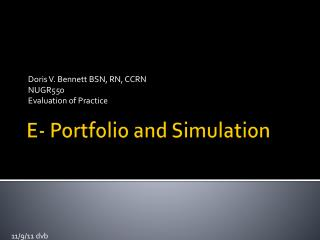 E- Portfolio and Simulation