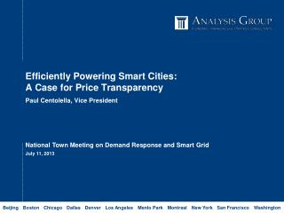 Efficiently Powe ring Smart Cities: A Case for Price Transparency