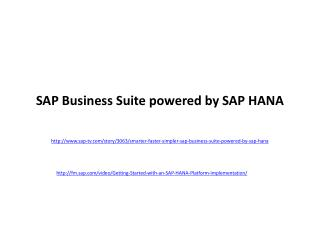 SAP Business Suite powered by SAP HANA