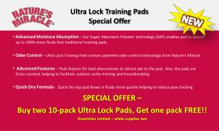 Ultra Lock Training Pads Special Offer
