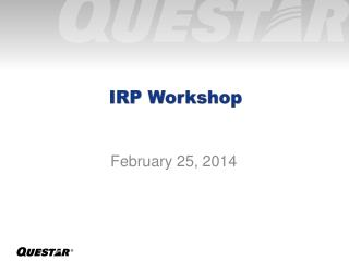 IRP Workshop