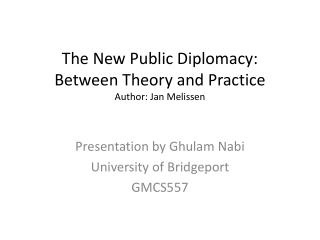 Propaganda, Public Diplomacy  Psychological Operations
