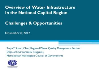 Tanya T. Spano, Chief, Regional Water Quality Management Section Dept . of Environmental Programs