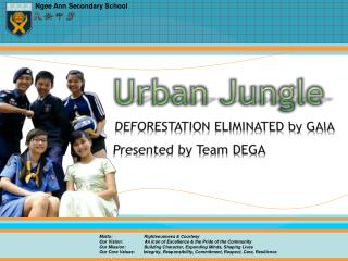 DEFORESTATION ELIMINATED by  GAIA Presented by Team DEGA