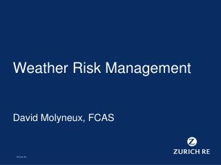 Weather Risk Management