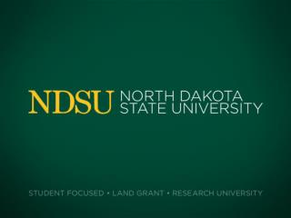 North Dakota State  University Bonnie Klamm Joseph Latimer